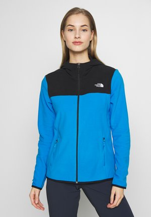 WOMENS GLACIER FULL ZIP HOODIE - Fleecejacka - clear lake blue/black