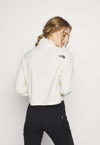The North Face - GLACIER CROPPED ZIP - Felpa in pile - vintage white