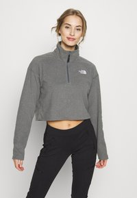 The North Face - GLACIER CROPPED ZIP - Fleece jumper - medium grey - 0