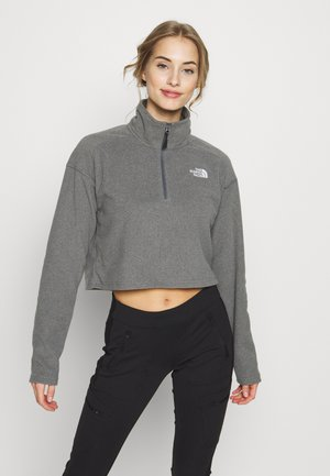 GLACIER CROPPED ZIP - Fleecetröja - medium grey