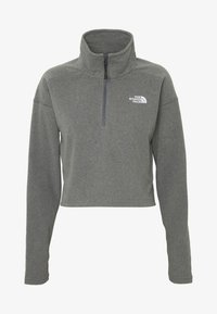 The North Face - GLACIER CROPPED ZIP - Fleece jumper - medium grey - 3