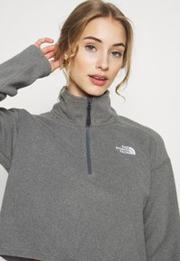 The North Face - GLACIER CROPPED ZIP - Fleece jumper - medium grey - 4