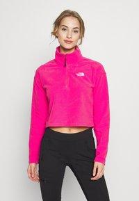 The North Face - GLACIER CROPPED ZIP - Fleece jumper - mr. pink - 0