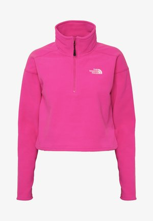 GLACIER CROPPED ZIP - Fleecepullover - mr. pink