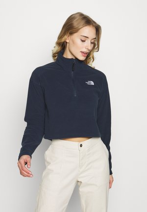 GLACIER CROPPED ZIP - Fleece trui - urban navy