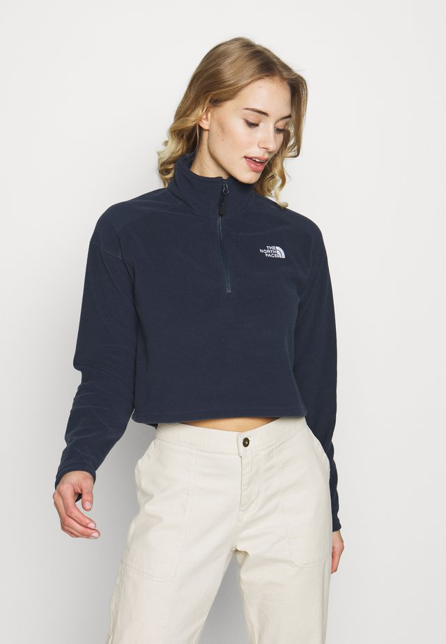 GLACIER CROPPED ZIP - Fleecetröja - urban navy