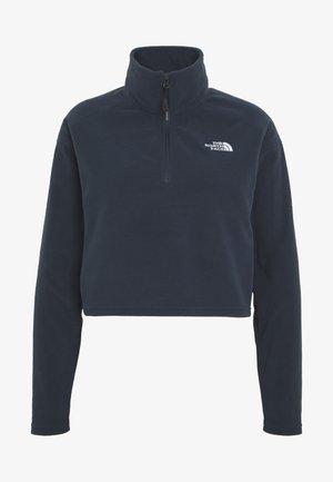 GLACIER CROPPED ZIP - Fleece jumper - urban navy