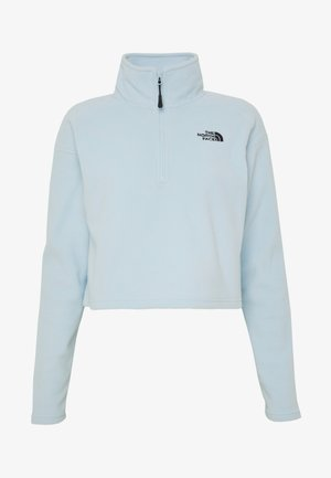 GLACIER CROPPED ZIP - Fleece jumper - blue