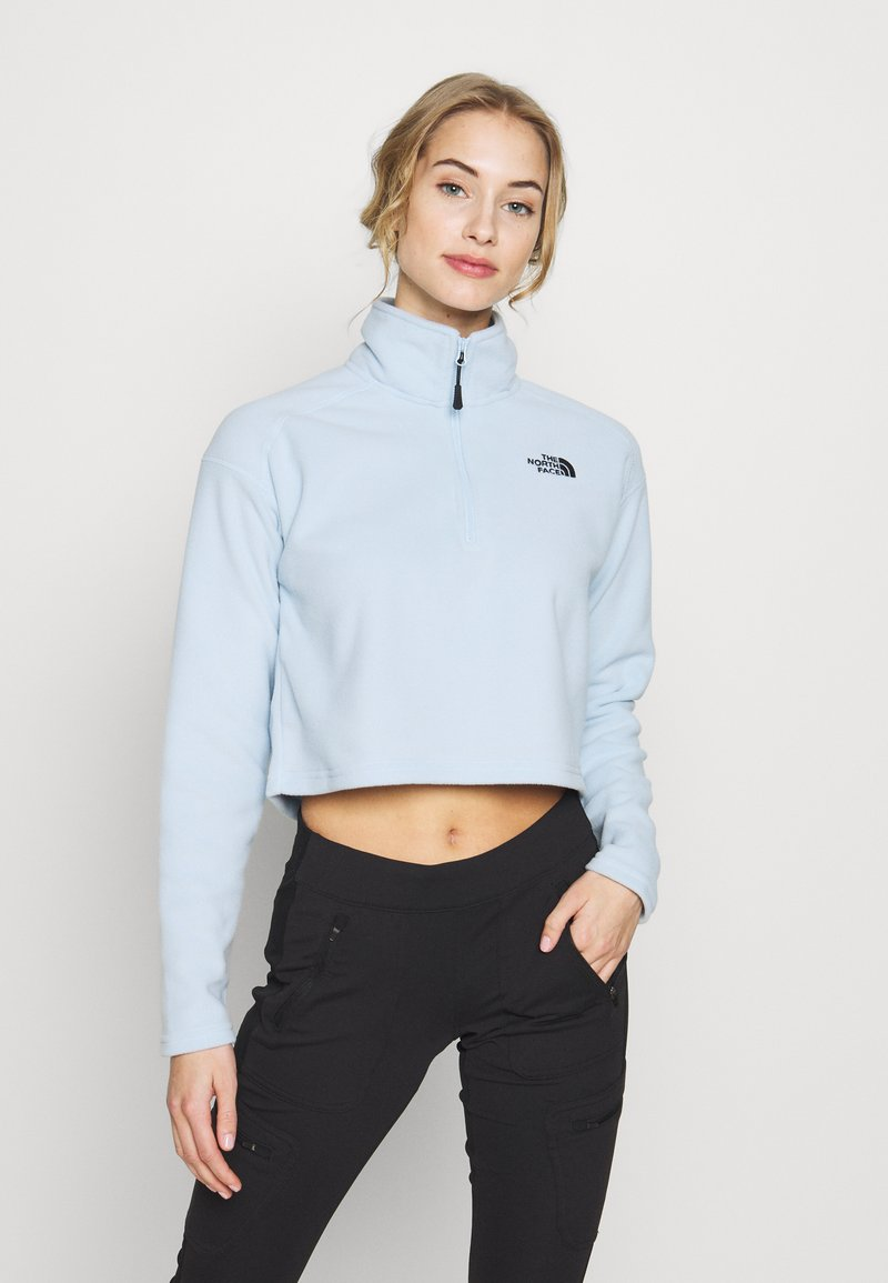 The North Face - GLACIER CROPPED ZIP - Felpa in pile - blue