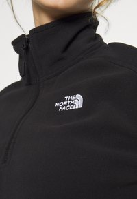 The North Face - GLACIER CROPPED ZIP - Fleece jumper - black - 4