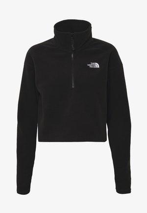 GLACIER CROPPED ZIP - Fleece trui - black