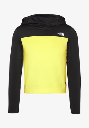 WOMENS ACTIVE TRAIL SPACER - Sports shirt - black/lemon