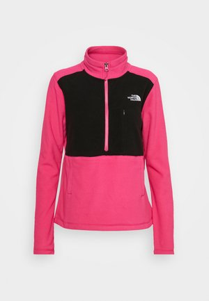 WOMENS BLOCKED - Fleece jumper - pink/black