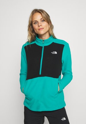 WOMENS BLOCKED - Fleecepullover - jaiden green/black