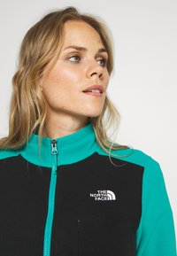 The North Face - WOMENS BLOCKED - Fleecová mikina - jaiden green/black - 3