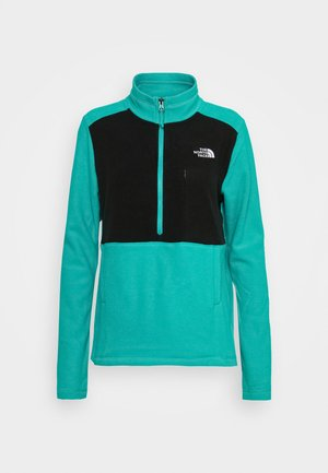 WOMENS BLOCKED - Fleece jumper - jaiden green/black