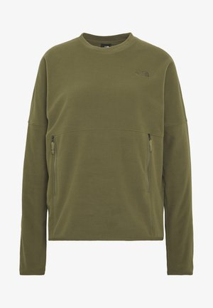 WOMENS GLACIER CREW - Fleece jumper - burnt olive green