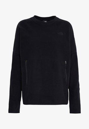 WOMENS GLACIER CREW - Bluza z polaru - black