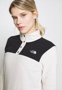 The North Face - WOMEN'S GLACIER SNAP NECK - Forro polar - vintage white/black - 4