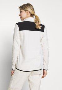 The North Face - WOMEN'S GLACIER SNAP NECK - Forro polar - vintage white/black - 2