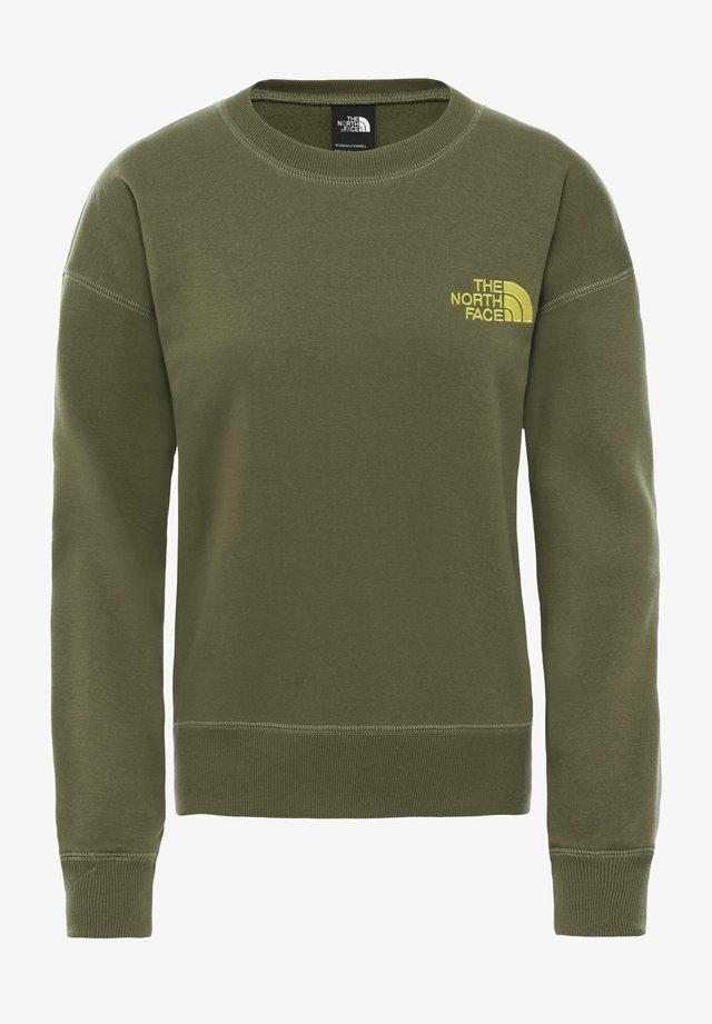 WOMENS PARKS SLIGHTLY CROPPED CREW - Sweatshirt - burnt olive