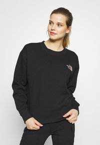 The North Face - WOMENS PARKS SLIGHTLY CROPPED CREW - Bluza - black - 0