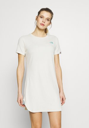 WOMENS SIMPLE DOME TEE DRESS - Jerseykjole - vintage white