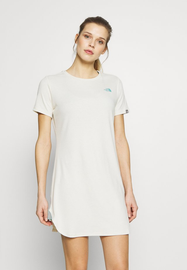 WOMENS SIMPLE DOME TEE DRESS - Jersey dress - vintage white