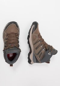 The North Face - Obuwie hikingowe - bipartisan brown/dark shadow grey - 1