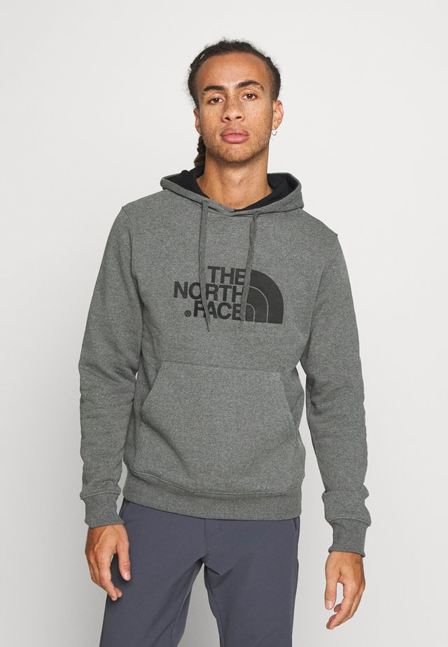 MENS DREW PEAK HOODIE - Bluza z kapturem - medium grey heather/black