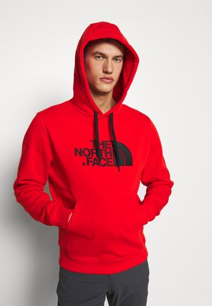 MENS DREW PEAK HOODIE - Bluza z kapturem - salsa red