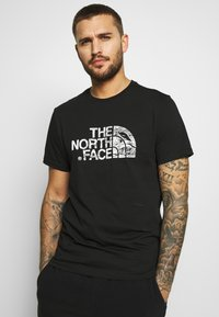 The North Face - WOODCUT DOME TEE - T-shirt med print - black - 0