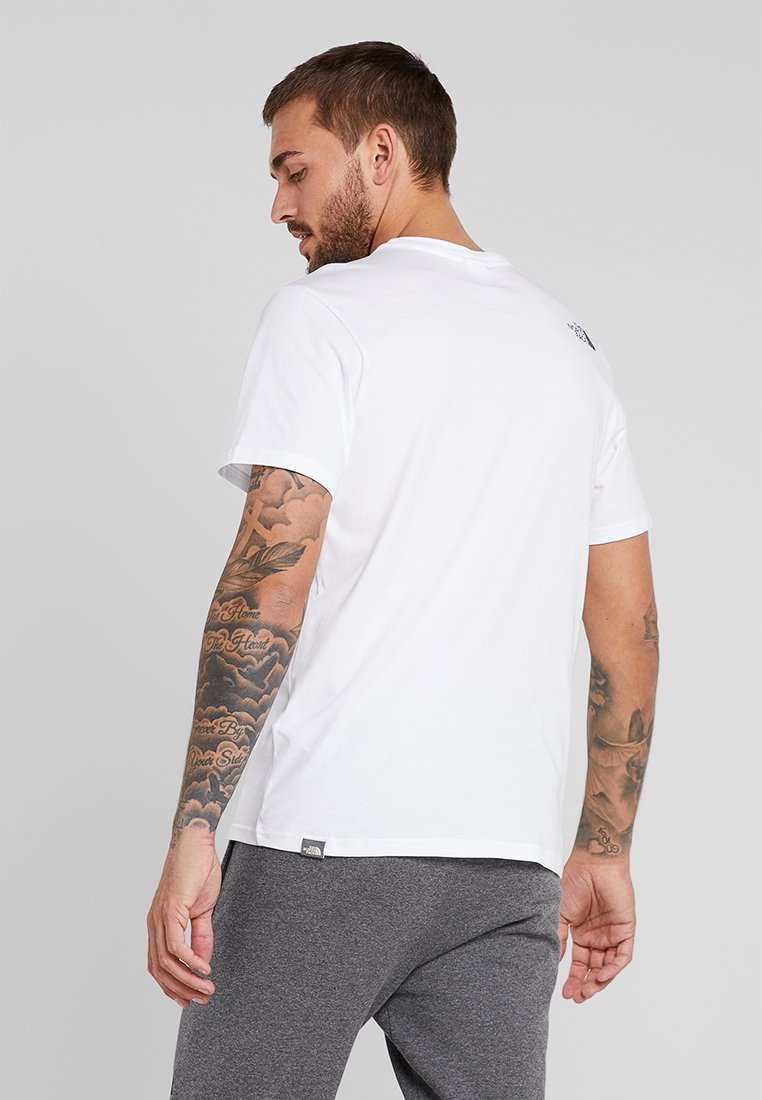 North TeeT The White Simple Dome Basique Face shirt 35cjq4ARL