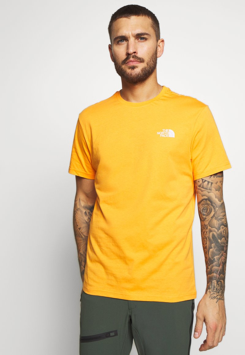 The North Face - MENS SIMPLE DOME TEE - Basic T-shirt - flame orange