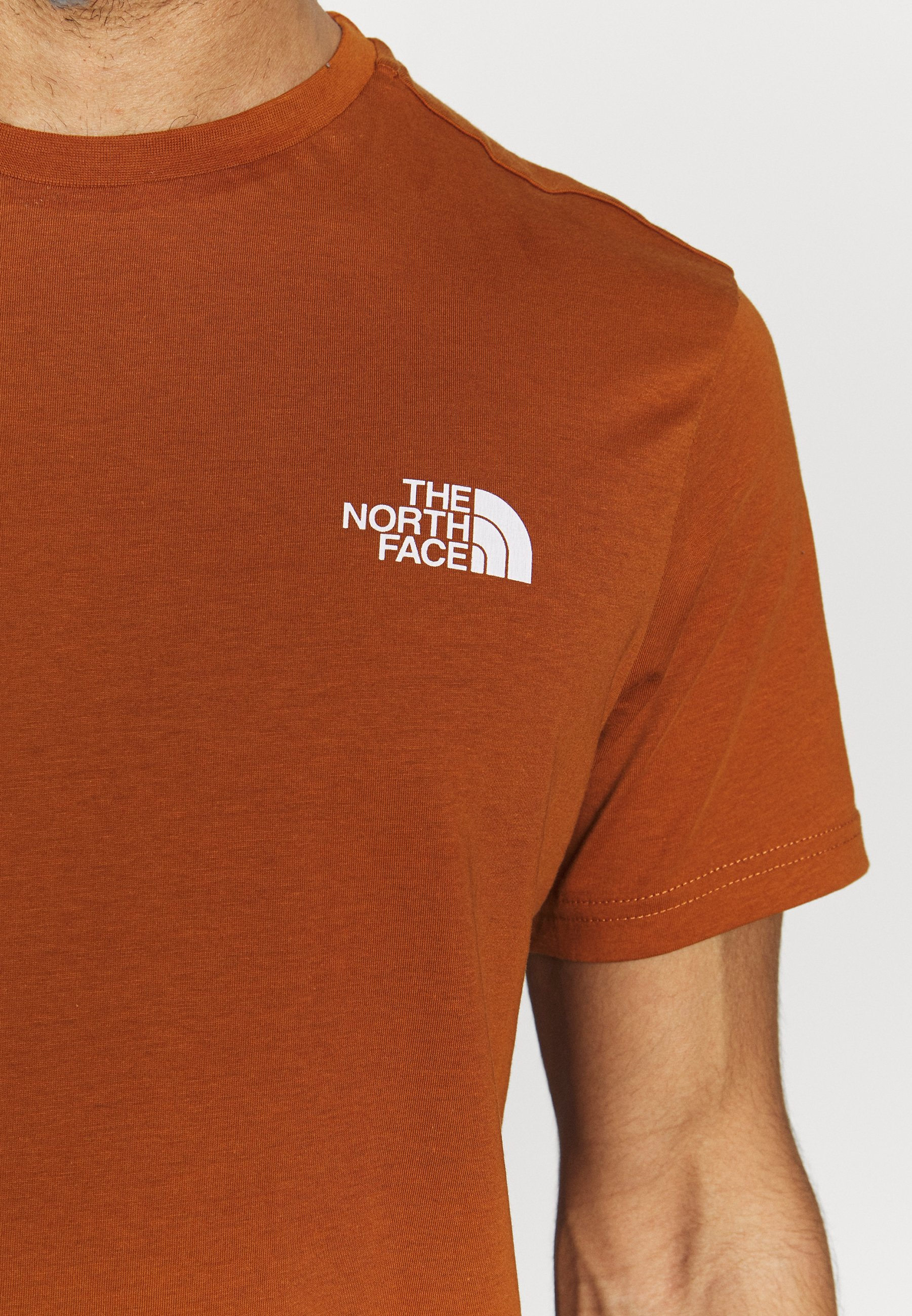 The North Face Mens Simple Dome Tee - T-shirt Basique Caramel Cafe