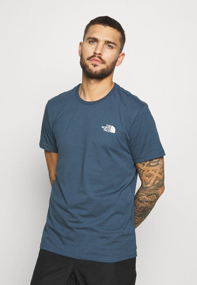 The North Face - MENS SIMPLE DOME TEE - T-shirt basique - blue wing teal