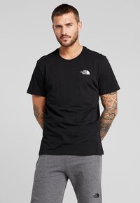 The North Face - MENS SIMPLE DOME TEE - Basic T-shirt - black - 0