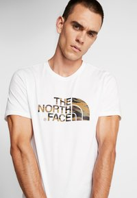 The North Face - MEN'S EASY TEE - T-shirt print - white/britsh khaki - 3