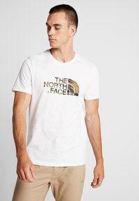 The North Face - MEN'S EASY TEE - T-shirt print - white/britsh khaki - 0