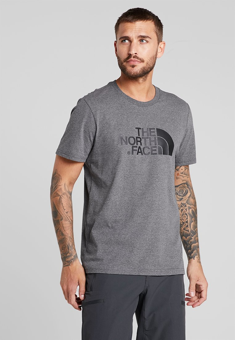 The North Face - EASY TEE - T-shirt z nadrukiem - grey heather