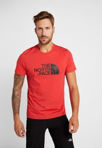 The North Face - MEN'S EASY TEE - T-Shirt print - red/black - 0