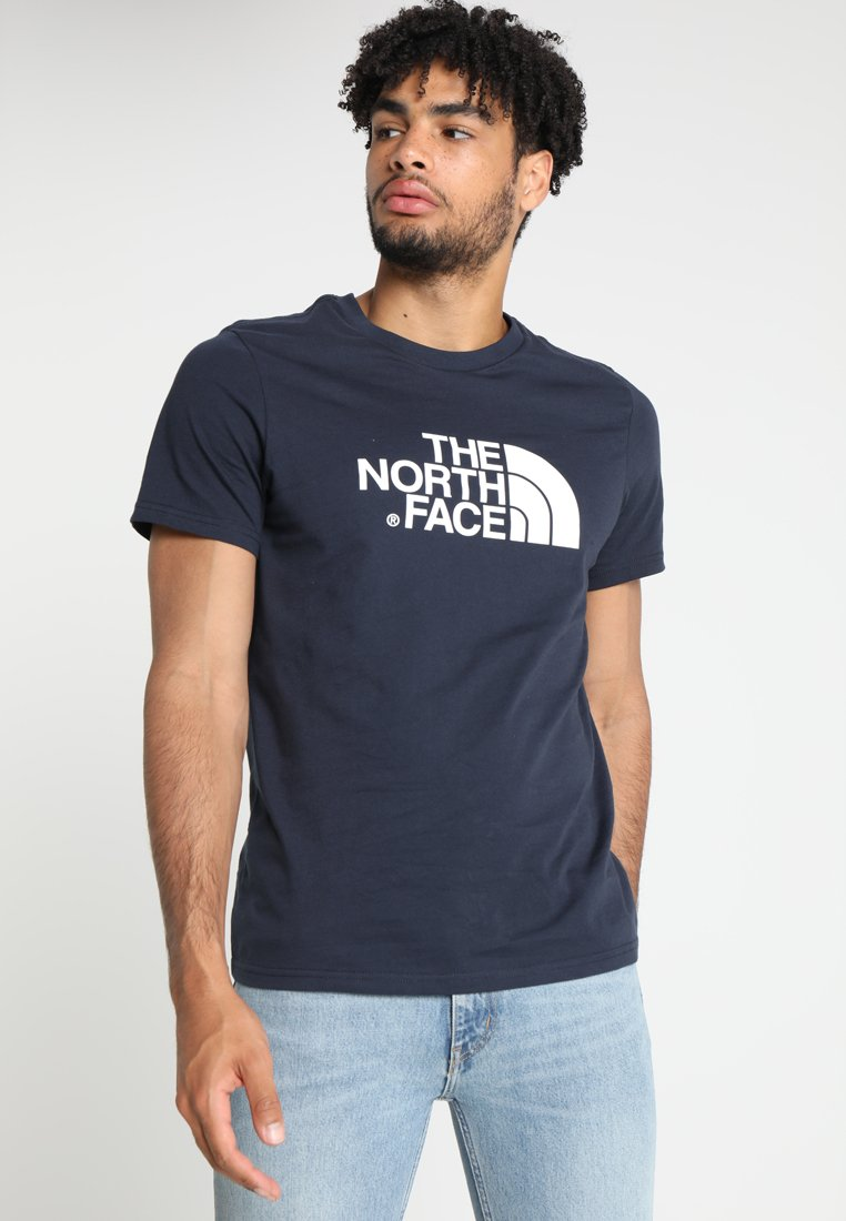 The North Face - EASY TEE - Print T-shirt - urban navy/white