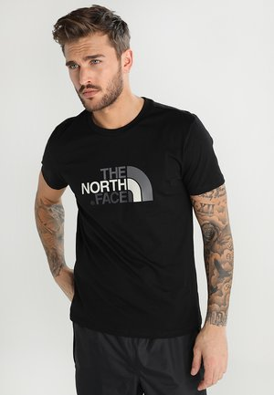 MEN'S EASY TEE - T-shirt z nadrukiem - black