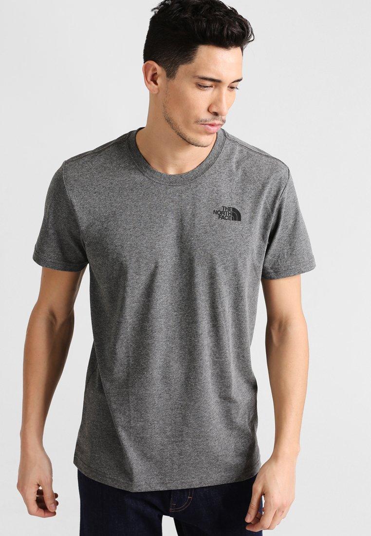 The North Face - MEN'S REDBOX TEE - T-shirt z nadrukiem - mottled grey