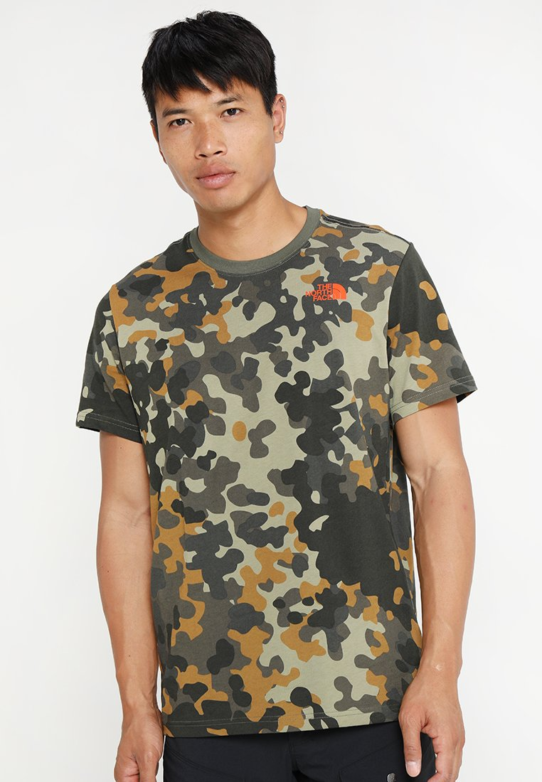 The North Face - MEN'S REDBOX TEE - T-shirt print - olive