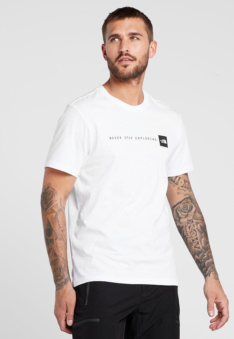 The North Face - TEE - T-shirt print - white/black
