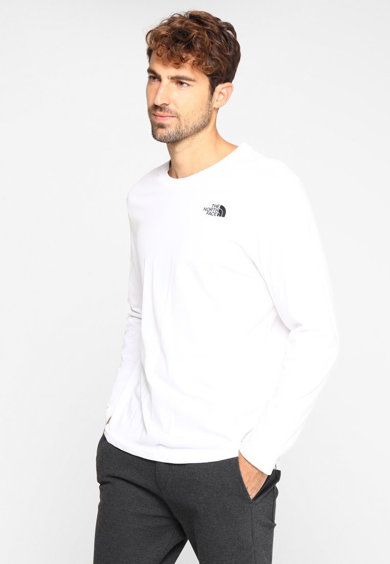 The North Face - EASY SHADY - Camiseta de manga larga - white/black