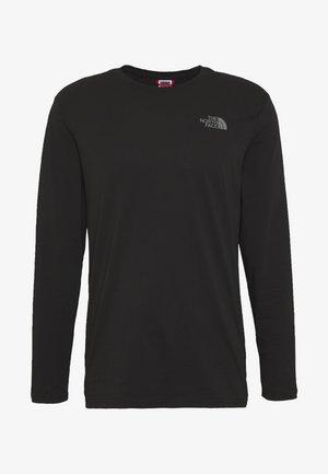 Långärmad tröja - black/zinc grey