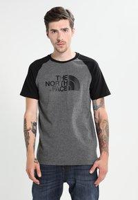 The North Face - RAGLAN EASY TEE  - T-shirt print - mottled grey/black - 0