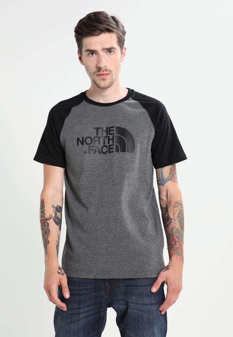 The North Face - RAGLAN EASY TEE  - T-shirt print - mottled grey/black